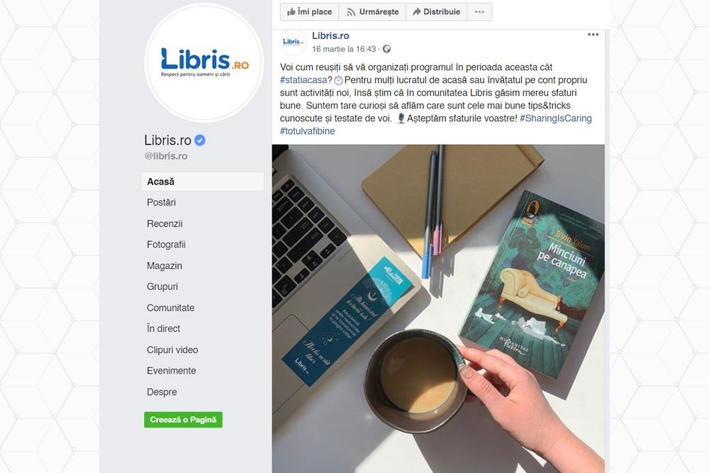 Libris.ro pune accent pe vanzarea in mediul online