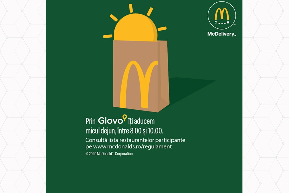 McDonald's - parteneriat cu Glovo si Food Panda