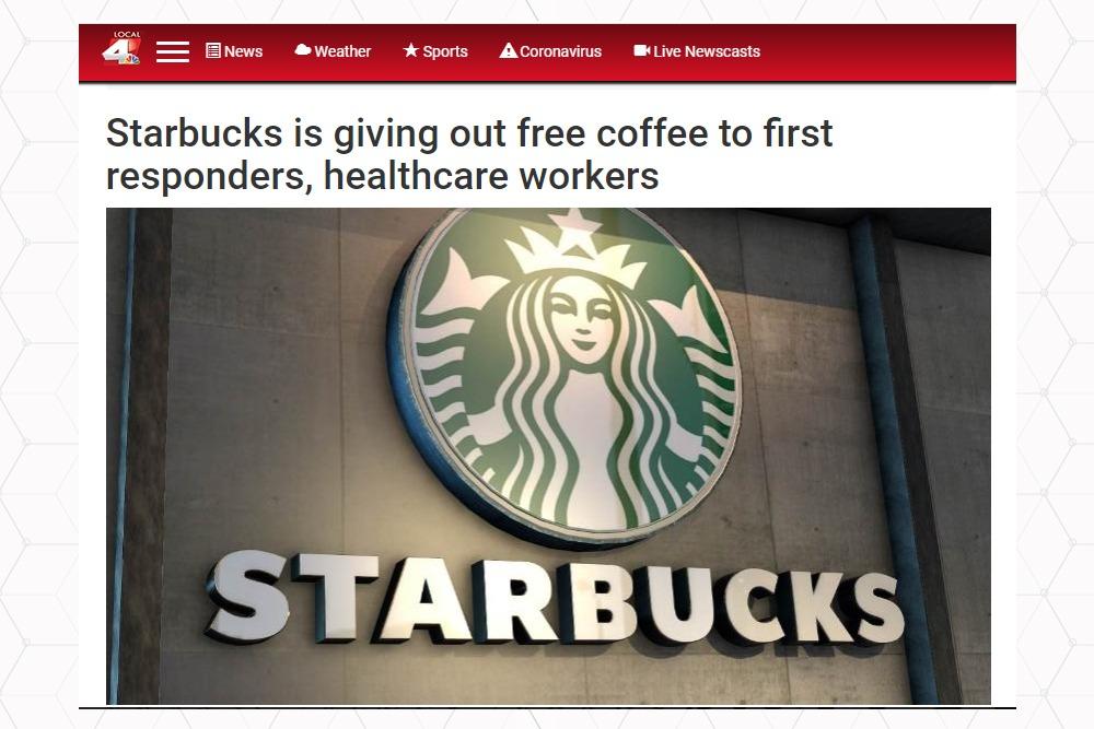 Starbucks ofera cafele gratis celor din linia intai